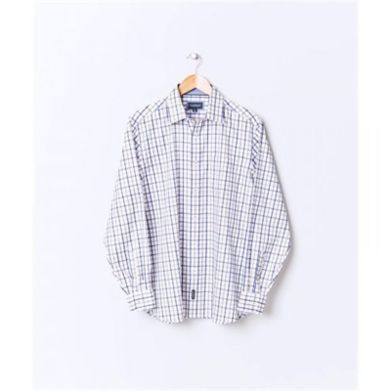 EASY CARE TWILL CHECK White L