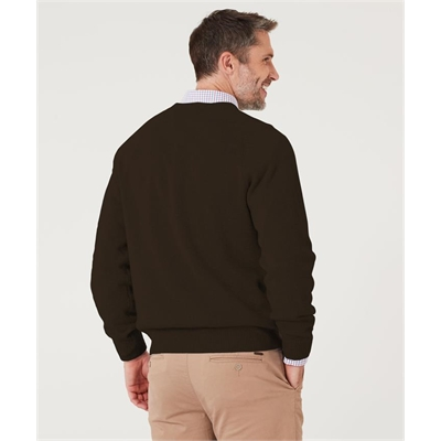 LAMBSWOOL CREW Brown M