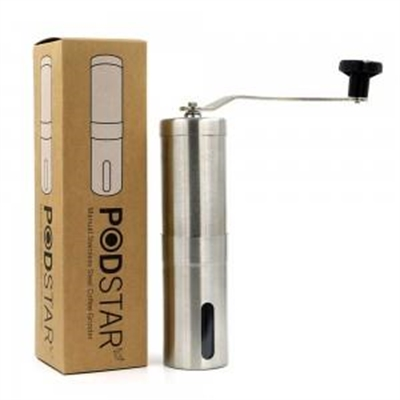 Pod Star Stainless Steel Manual Coffee Grinder