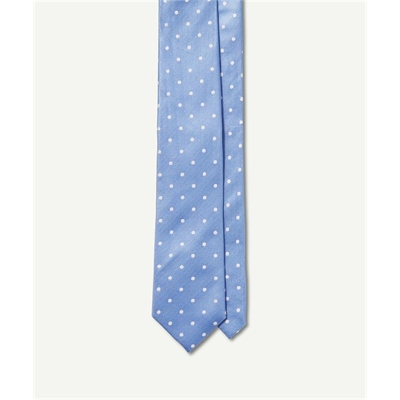 SILK POLKA DOT TIE Blue