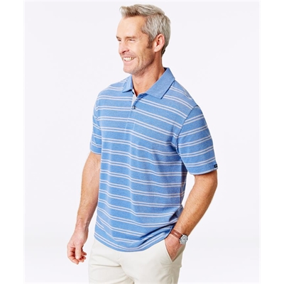 STRIPE OXFORD POLO Blue XXL
