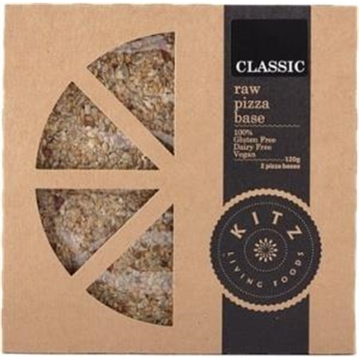 Kitz Living Foods Organic Raw Pizza Base Classic G/F 120g