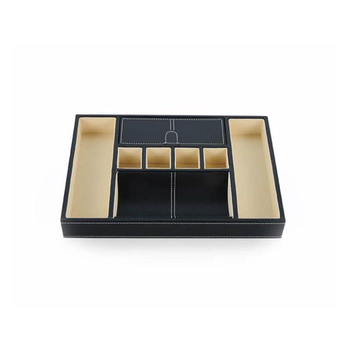 Men's Valet Tray accessory storage black / dark brown (Colour: Black)