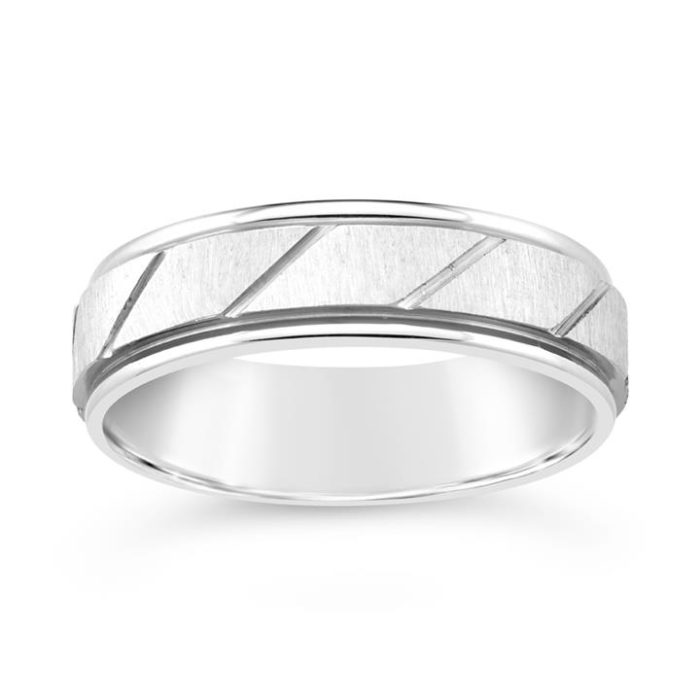Stainless Steel Gents Patterned Ring