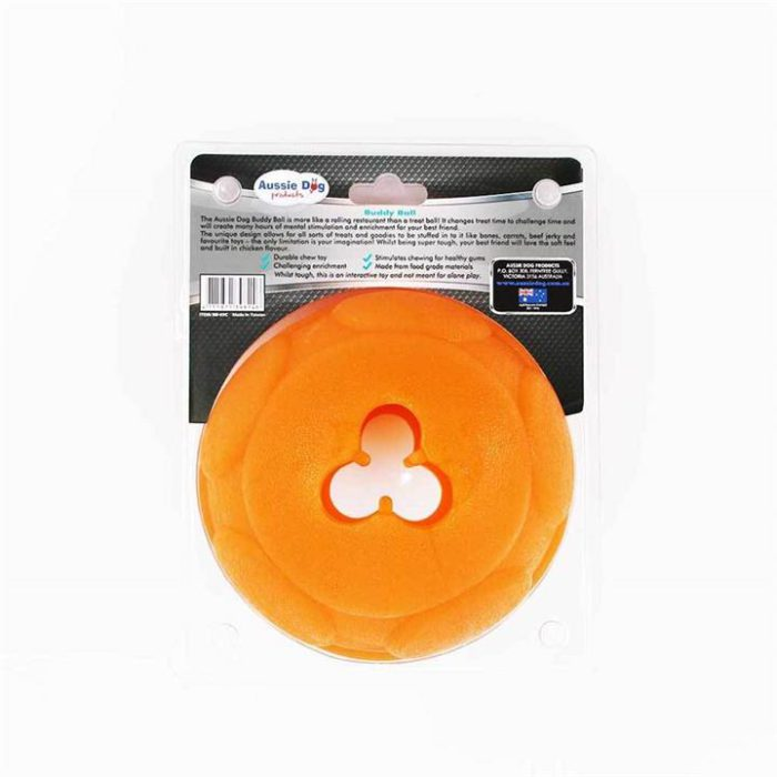 Aussie Dog Buddy Ball - Interactive Food Dispensing Dog Toy [Size: Large]
