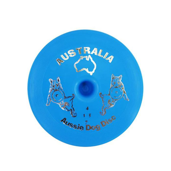 Aussie Dog Flying Disc Fetch Dog Toy - Blue Soft Frisbee