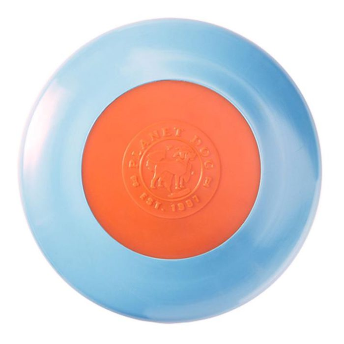 Planet Dog Zoom Flyer Frisbee Dog Toy in Blue & Orange - Original Size