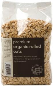 Real Good Foods Aussie Organic Premium Rolled Oats 1kg