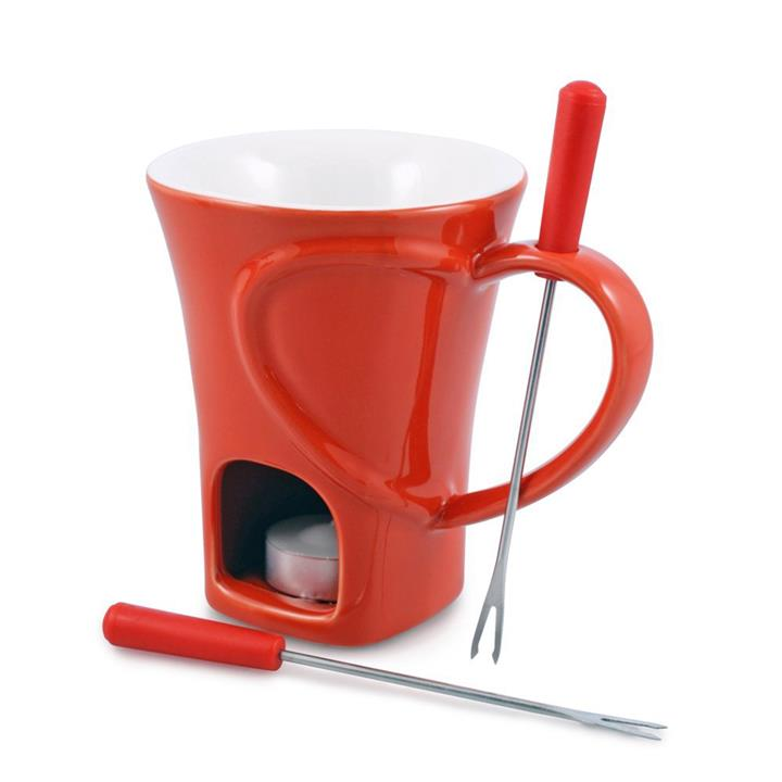 Swissmar Sweetheart 4 Pcs Chocolate Fondue Mug Set