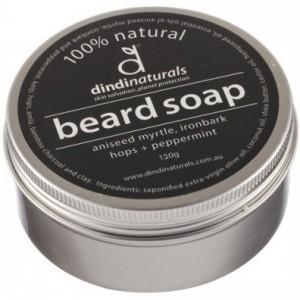 Dindi naturals' beard soap in a tin