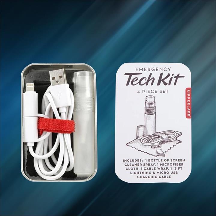 Emergency Tech Kit   4 Piece Pocket-Sized Set in Tin