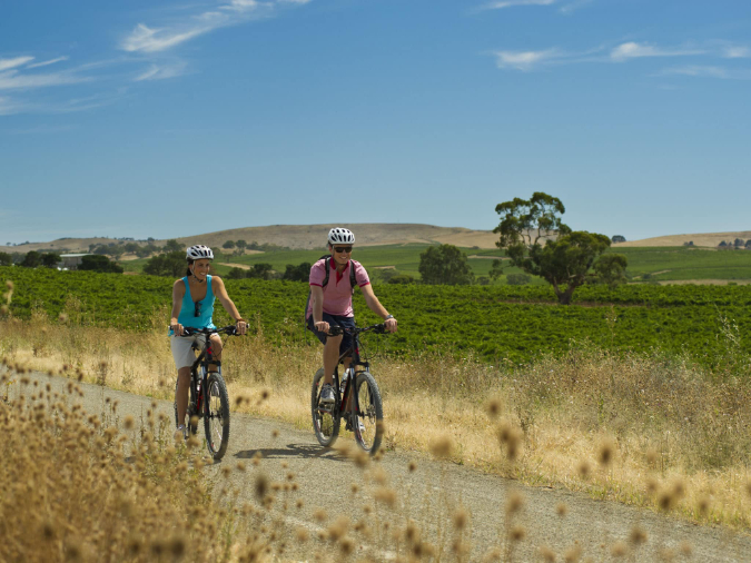 Riding on the Riesling Trail Clare Valley